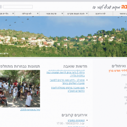 אתר ניהול תוכן קהילת ישוב שואבה,drupal