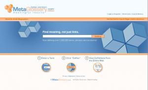 metaglossary, search engine, design